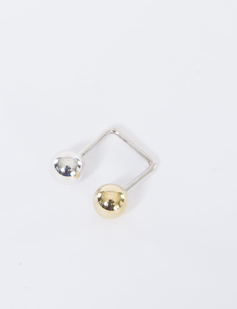 10mm Open Square Silver/Brass Ring