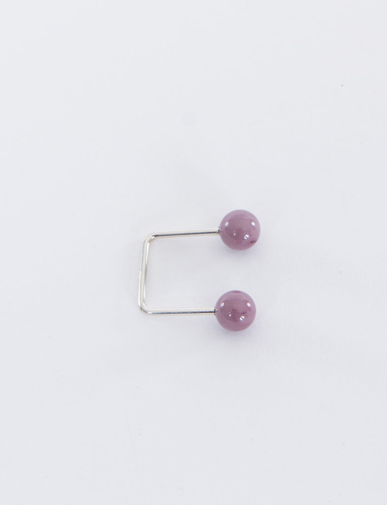 8mm Open Square Glass Ring