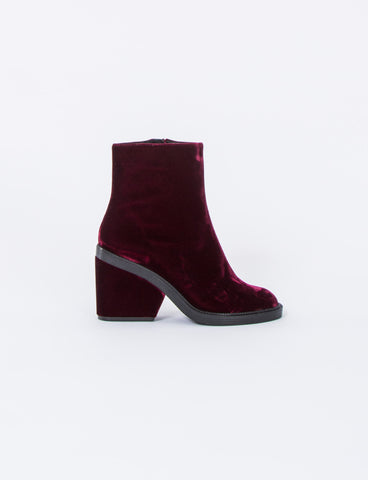 Babe Velvet Ankle Boot