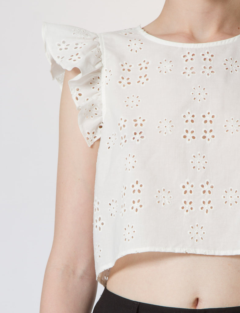 Creatures of Comfort Gemma Top Open Eyelet