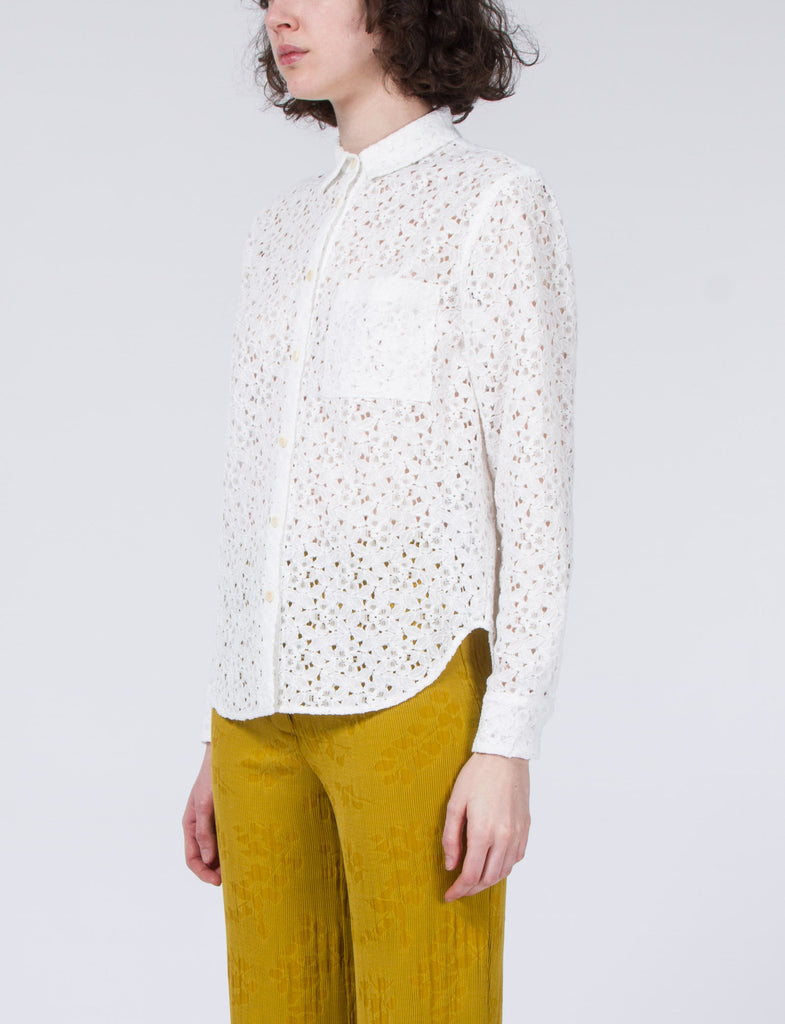 Woody Top Lace Button Up