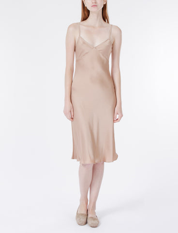 Creatures of Comfort Gaia Slip Dress Poly in Nude