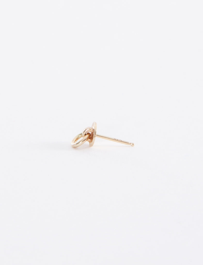Looped Disc Stud Earring