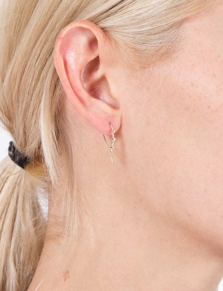 Triptych 3 Cylinder Earring