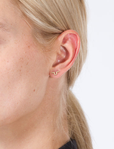 Bar U Stud Single Earring