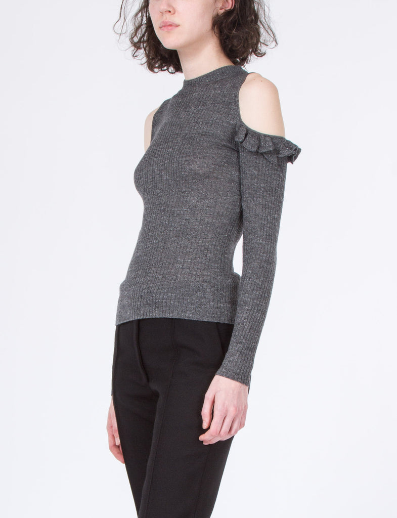 Robson Cut Out Ruffle Top