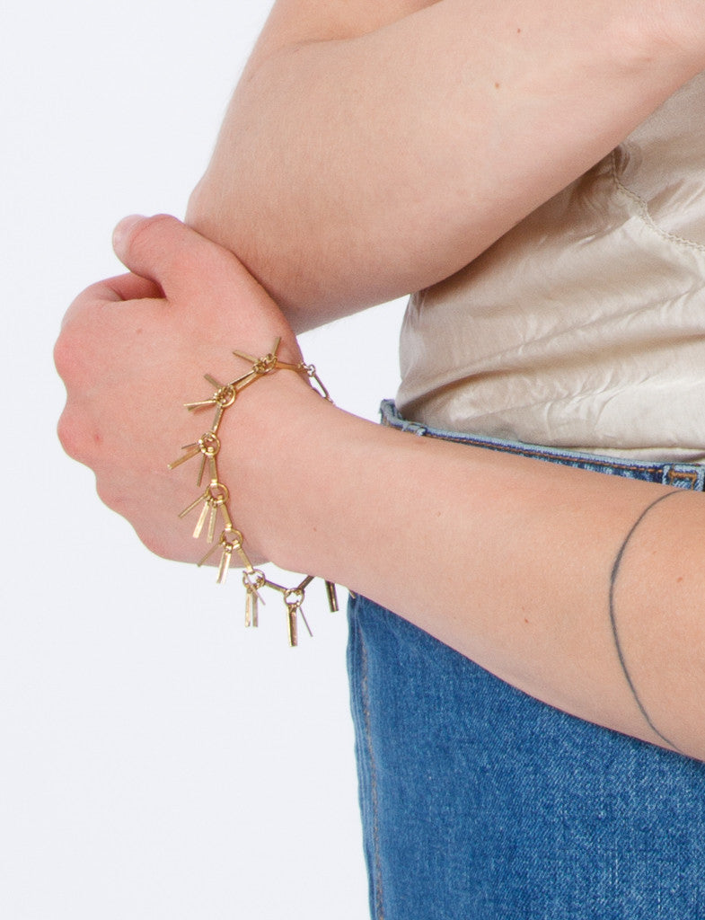 Tinsel Bracelet Brick/Brass