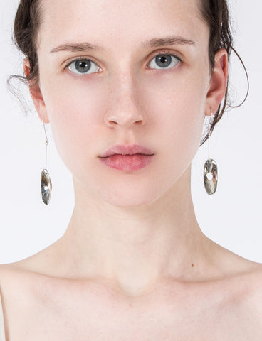 Spacer Oval Drop Earrings