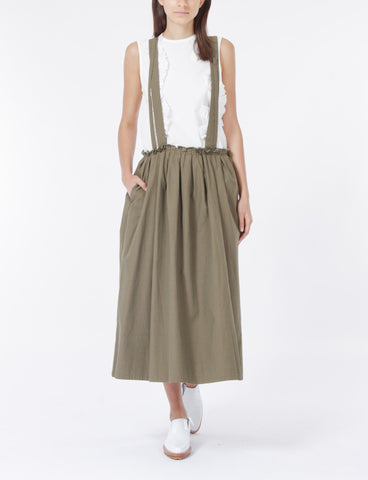 O-Shoulder Straps Tuck Skirt