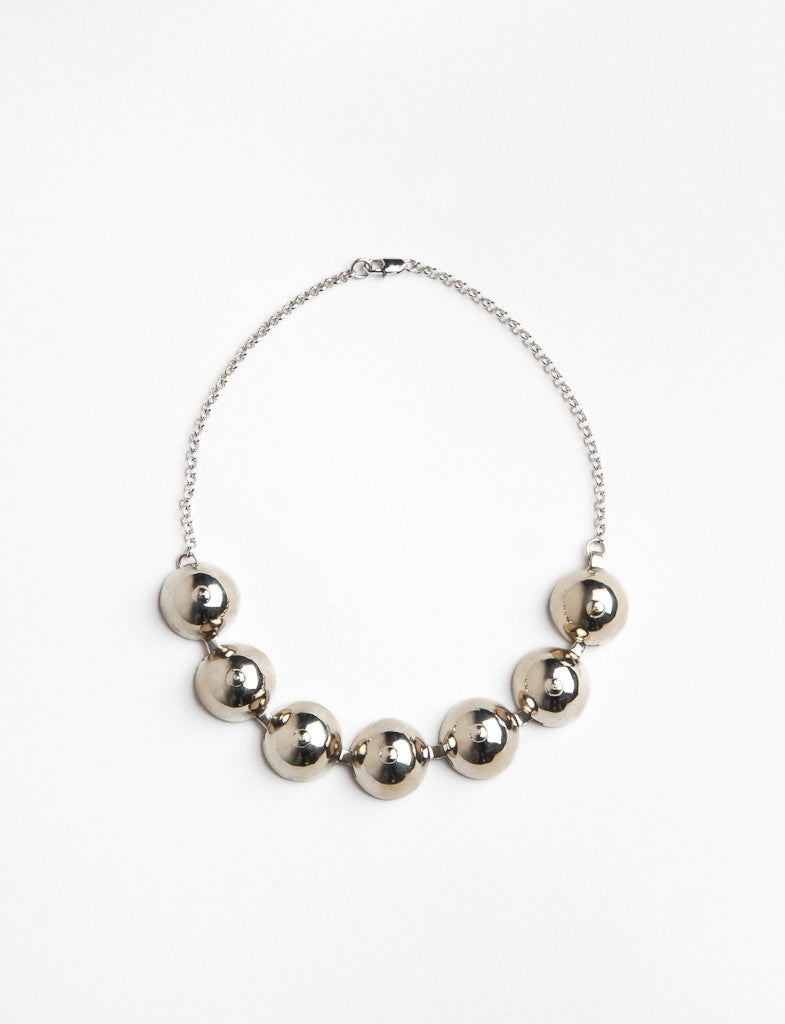 Multi Opis Necklace-Wht Brnz