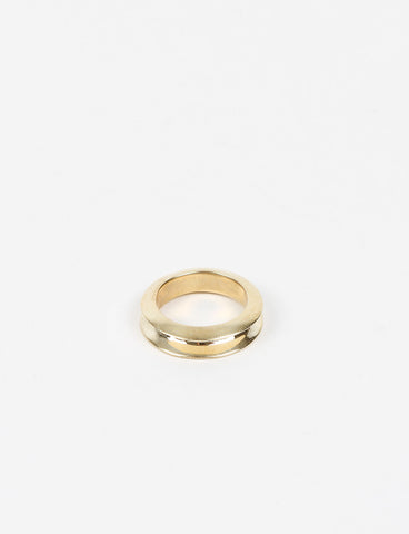 O Stacking Ring 10 Brass