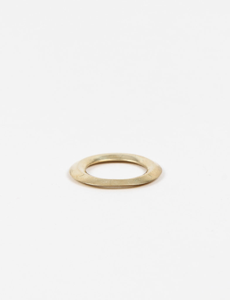 O Stacking Ring 7 Brass