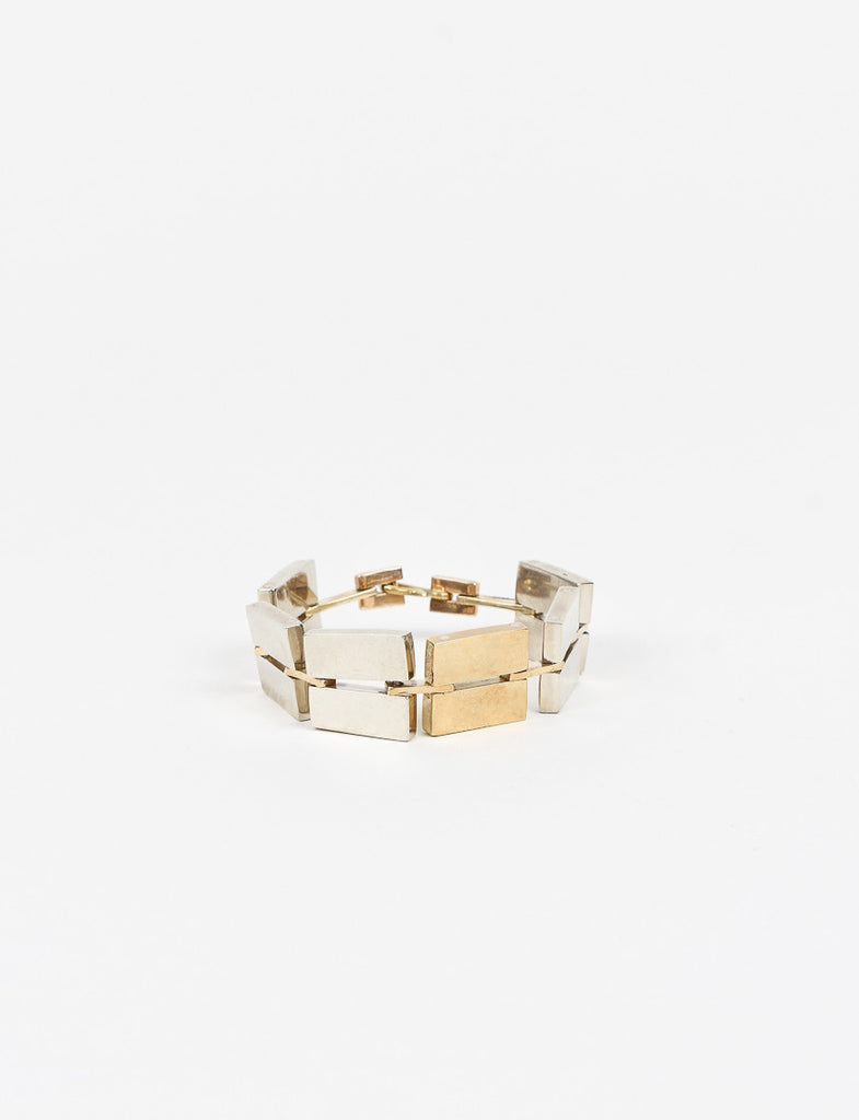 Flatlet Bracelet White Brass