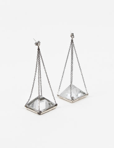Volcano Pyramid Earring Silver