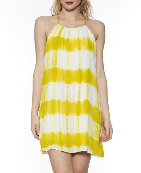 Lemon Color Tie Dye Dress