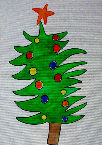 "Needlepoin?t canvas ""Firtree"""