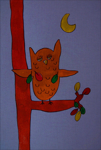 "Needlepoin?t canvas ""Owlet"""