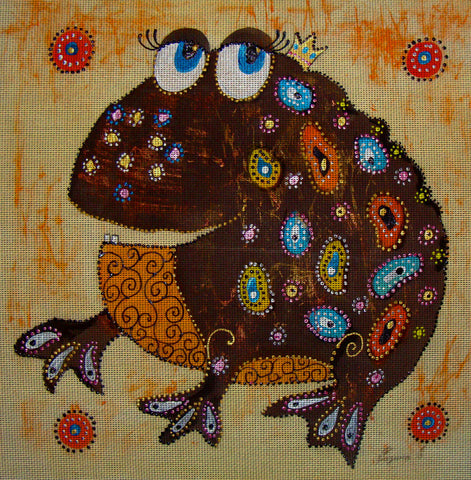 Needlepoint canvas 'Money Toad'