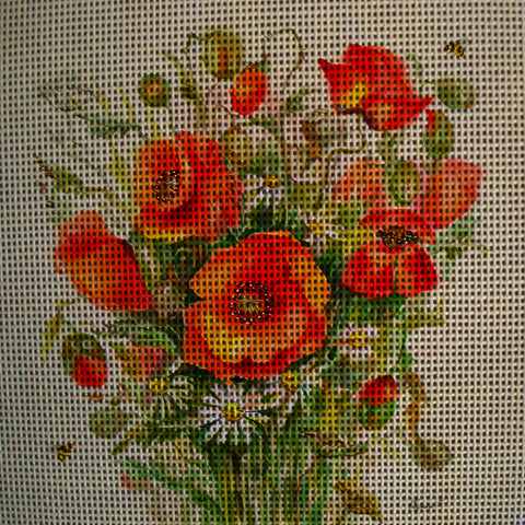 Needlepoint canvas 'Poppies'