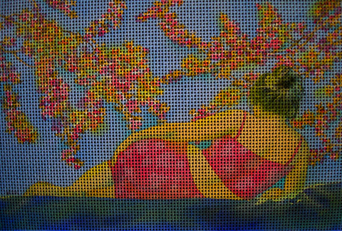 Needlepoint canvas 'Contempla?tion'