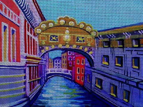 Needlepoint canvas 'Bridge of Sighs.Ital?y'