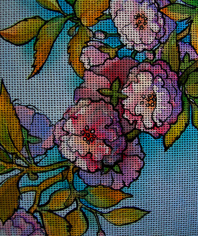 Needlepoint canvas 'Cherry tree Blossoming'