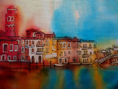 Needlepoint canvas 'Colors of Venice.Italy'