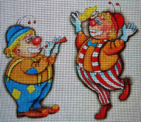 Needlepoint canvas 'Clowns.Butterfly's dancing'