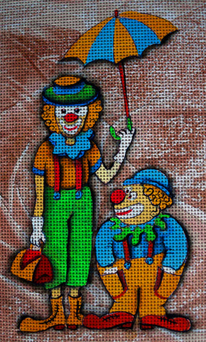 Needlepoint canvas 'Clowns's arrival'