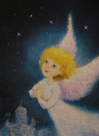 Needlepoint canvas 'Night fly of Christmas Angel'