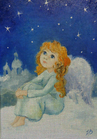 Needlepoint canvas 'Gold Hair Angel'
