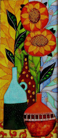 Needlepoint canvas 'Still life with Sunflowers?'