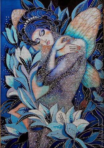 Needlepoint canvas 'Fairy tale of night (had known as N.Sokolova)?'
