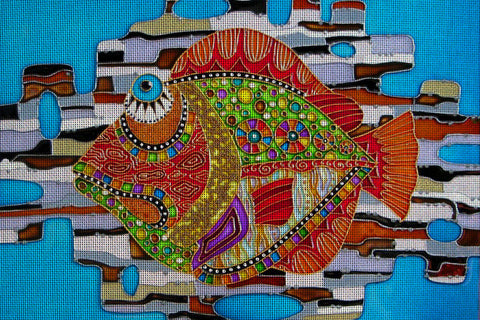 Needlepoint canvas 'Colorful Fish'