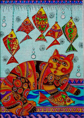 Needlepoint canvas 'Cat's real dream'