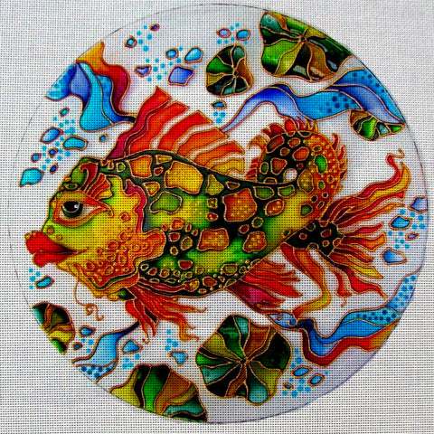 Needlepoint canvas 'Gorgeous Gold Fish'