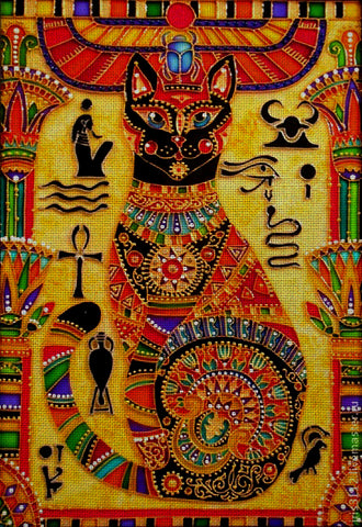Needlepoint canvas 'The cat for Pharaoh'