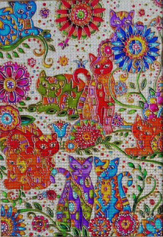 "Needlepoint canvas ""The day of Cats"""