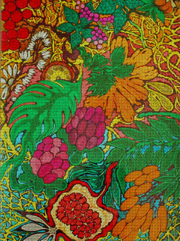 "Needlepoin?t canvas ""Flora"""