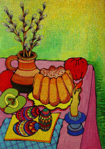 "Needlepoint canvas ""Easter"""
