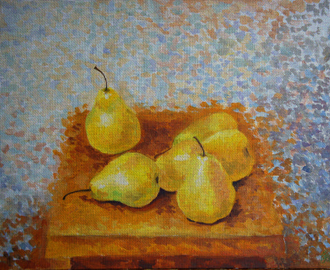 "Needlepoin?t canvas ""Spring pear"""