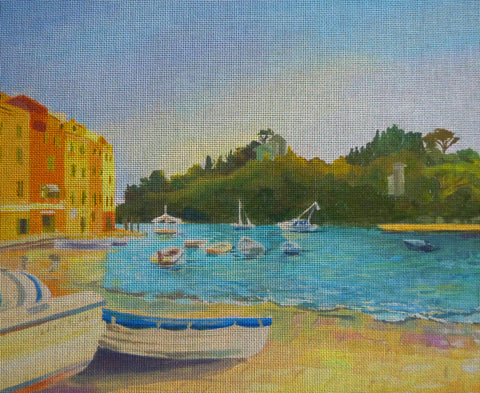 "Needlepoint canvas ""Sea front of Italy"""