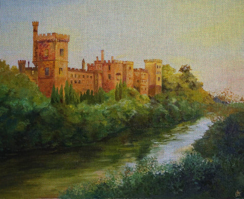 "Needlepoint canvas ""At the toe of castle"""