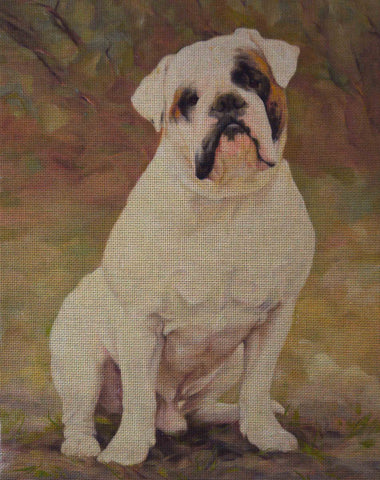 Needlepoint canvas 'Bulldog Bourgeois'