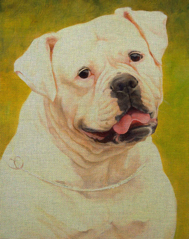 Needlepoint canvas 'Bulldog Uinona'