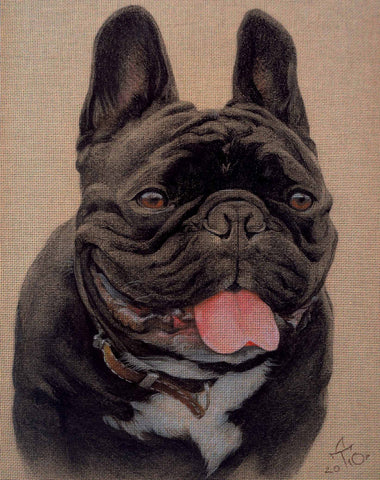 Needlepoint canvas 'Bulldog Sioma'