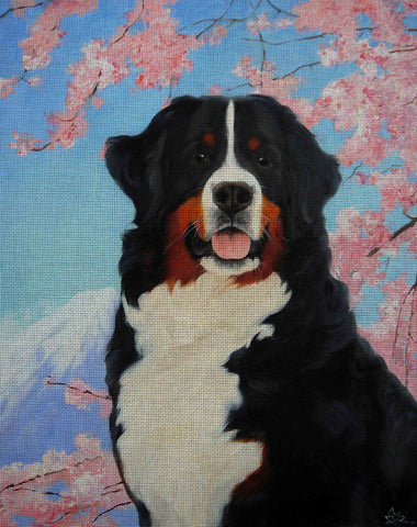 Needlepoint canvas 'Bernese Mountain In Spring'