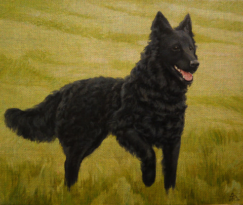 Needlepoint canvas 'Black German Shepher'