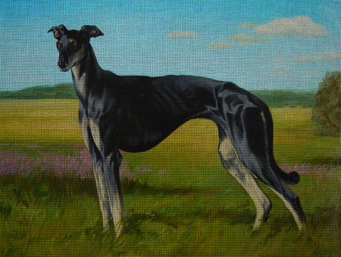 Needlepoint canvas 'Borzoi'