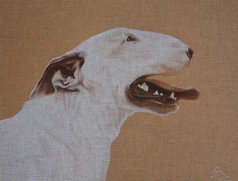 Needlepoint canvas 'Bull Terrier'